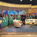 Nurses on the set of the view in advance of the live show. (Photo via Larry Slater, PhD, RN, CCRN @LZSlater on Twitter)