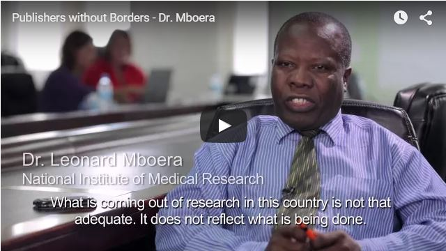 video building scientific publishing in Tanzania